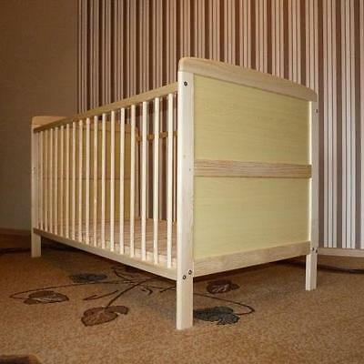 NEW CLASSIC PINE WOOD COT BED CHILD BABY BED JUNIOR BED 2 IN 1 140 x 70 (PIN1)