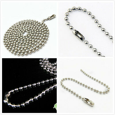 10X Basic Silver Tone Necklace Bead/Ball Chain Craft Jewellery Making 60CM
