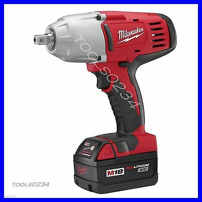"Milwaukee 2662-22 18V Cordless 1/2"" High Torque Impact Wrench Kit Free Ship"