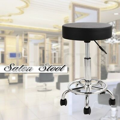 Salon Stool Gas Lift Chair Swivel Barber Massage Hairdressing Equipment Beauty