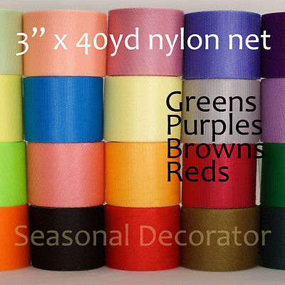 "Scrubby Nylon Net 3"" 40 Yard Spool (Second Half Of 40 Colors)"