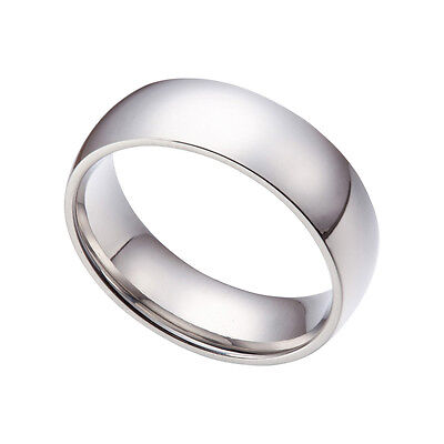 3MM-15MM Silver Stainless Steel Comfort Fit Wedding Band Ring Size 2-15 HS16