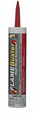 White Lightning 8802020 Flame Buster High Heat Silicone Sealant, 10 Oz