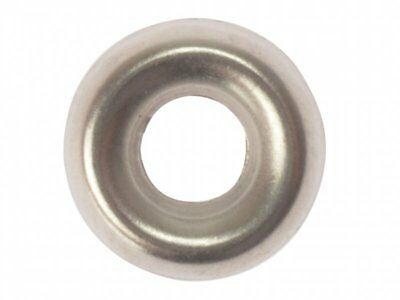 Forgefix Screw Cup Washers Solid Brass Nickel Plated No.6 Bag 200