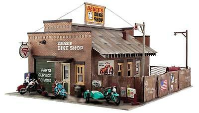 NEW Woodland Scenics Deuce s Bike Shop O PF5895