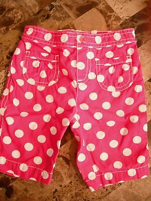 baby girls PINK WHITE POLKA DOT CAPRI PANTS summer JUMPING BEANS 12 MONTHS cute!