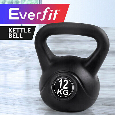 Everfit 12KG Kettle Bell Kit Weight Kettlebell Fitness Exercise Home Gym