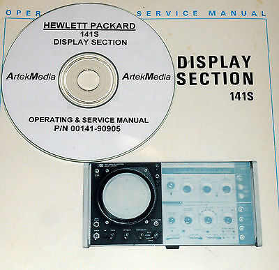 HP Hewlett Packard 141S DISPLAY SECTION  SERVICE & OPERATING MANUAL w/Schematics