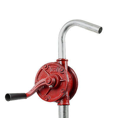 TERAPUMP - Heavy Duty Red Rotary Hand Manual Drum Barrel Pump 10 gal/min