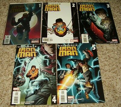 ULTIMATE IRON MAN 1 2 3 4 5 complete run 1st print Orson Scott Card