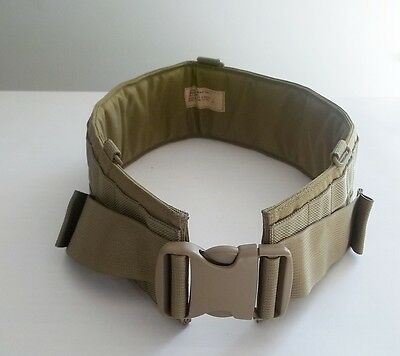 NEW Military MOLLE Eagle Industries Padded War Belt Khaki Sz32 FSBE MLCS SFLCS