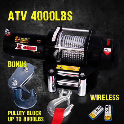 12V Wireless 4000LBS / 1814KGS Electric Winch for ATV 4WD BOAT
