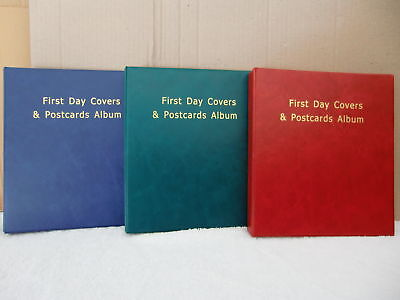 **New 100 First Day Covers & Postcards Album (Green) @additional $2.00 back...