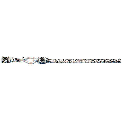 "Byzantine Bali Chain 2.5-4MM Wide .925 Sterling Silver Chain 16""-34"" Long"