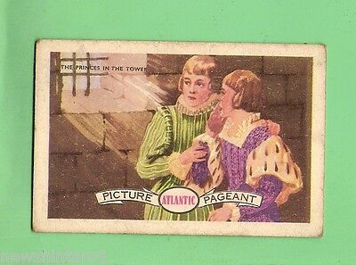 #D85.  1950-60s  ATLANTIC  PETROLEUM  CARD  #12 THE PRINCES IN THE TOWER