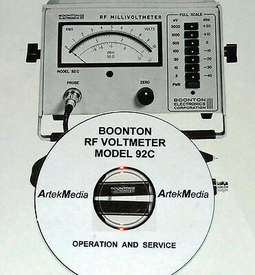 Boonton 92C RF Milivoltmeter Operating & Service Manual w