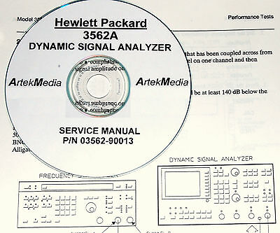 HP Hewlett Packard 3562A Dynamic Signal Analyzer Service Manual w/schematics