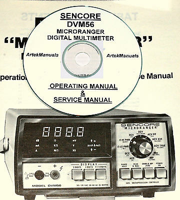 Sencore DVM56 Microranger Digital Multim Operating & Service Manual w/Schematics