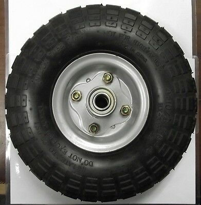"10"" x 3"" Pneumatic Wheel 5/8"" Axle Use For Hand Truck Wheelbarrow ETC. 1008"