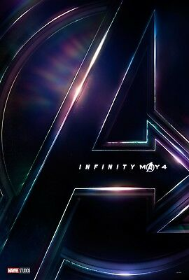 """Marvel AVENGERS INFINITY WAR 2010 May Advance DS 2 Sided 27X40"""" US Movie Poster"""