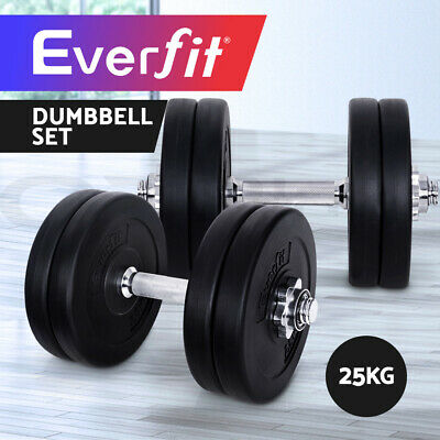Everfit Dumbbell Set Weight Dumbbells Plates Home Gym Fitness Exercise 25KG