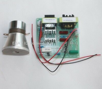 60W 40KHz Ultrasonic Cleaning Transducer Cleaner +Power Driver Board 220VAC 100W