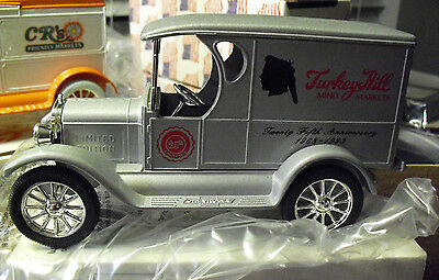 ERTL 1923 Chevy 1/2 Ton Turkey Hill Anniversary Truck Bank MIB  LOOK