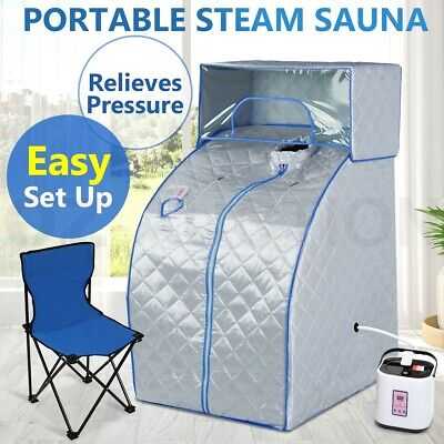 Portable Steam Sauna Tent Indoor Loss Weight Slimming Skin Spa w/ Head Cover