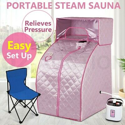 Portable Steam Sauna Tent Indoor Loss Weight Slimming Skin Spa w/  Cover Head
