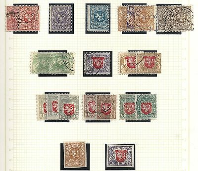 Lithuania 1919 collection of 24  stamps  OPPORTUNITY!