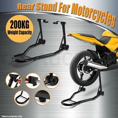 Heavy Duty Steel Motorcycle Motorbike Rear Stand Paddock Race Lift Under Fork