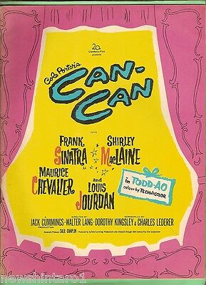 #T20.  1960  MOVIE BOOKLET - CAN CAN, SINATRA, MacLAINE, CHEVALIER