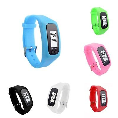 Smart Wrist Watch Bracelet Pedometer Step Calorie Counter Walking Jogging Run
