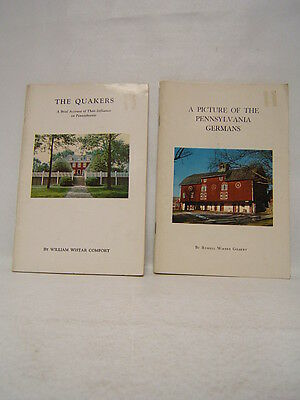 Lot of 2 The Quakers and PA Germans Pennsylvania History Study 1948 1962  BR