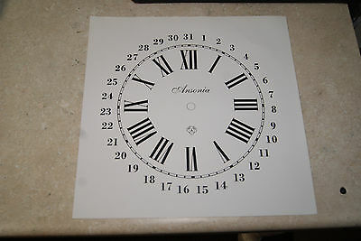 One Ansonia Calender Clock Paper Dial White Dial