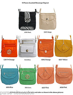 Wholesale Lot 10 Designer Inspired Fashion Handbags Purses Messenger Bags New