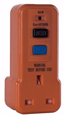 RCD Power Circuit Breaker Socket Safety Switch Plug in Test Reset Switch