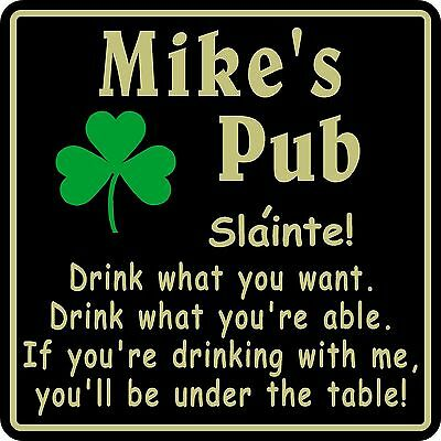 New Personalized Custom Name Irish Pub Bar Beer Home Decor Gift Plaque Sign #14