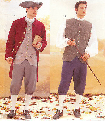 Sewing PATTERN for Colonial Patriot Costume Butterick 3072 Mens History 32-48
