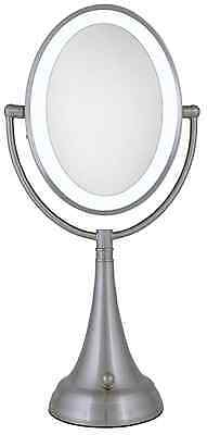 Zadro 10X/1X Cordless / Corded LED Lighted Vanity Make Up Mirror LEDOVLV410 NEW
