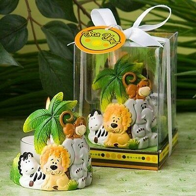 60 Adorable Jungle Critters Collection Candles Baby Shower Gift Favors