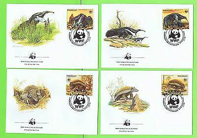 Paraguay 1985 WWF Ant-Eating Giants set of four First Day Covers