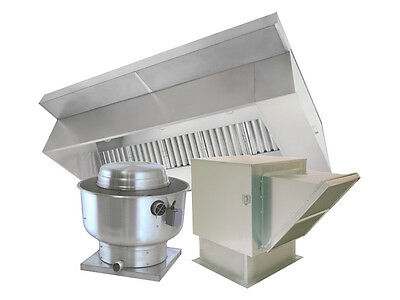 6 Foot Restaurant Exhaust Hood Ventilation System