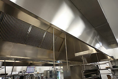Restaurant Hood Ventilation System 4ft Long Vent Hood with Exhaust Fan and MUA