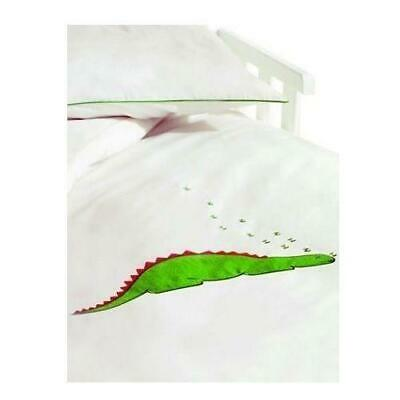 Saplings Cot / Junior Bed Duvet Cover & Pillow Case Set (White Dino)