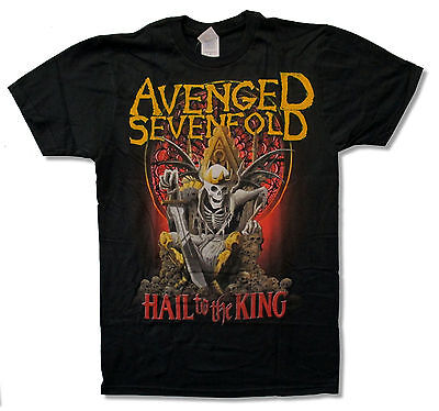 """Avenged Sevenfold """"new Day Rises"""" Black T Shirt New Official Adult A7X"""