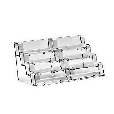 8 Bay Desktop Business Card Holder Retail Shop Counter Acrylic Display Stand