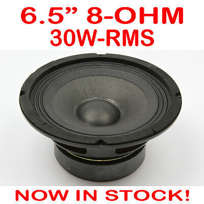 """6.5"""" 30WRMS 8 Ohms PA DJ Speaker Subwoofer Woofer Sub Driver 6.5 Inch Quality"""