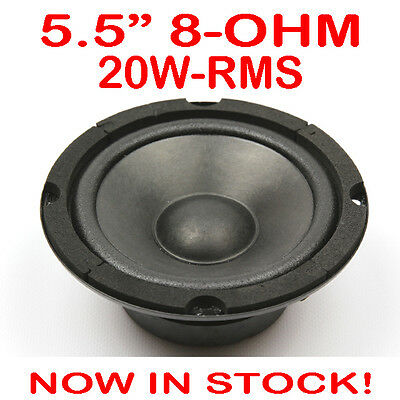 "5.5"" 20WRMS 8 Ohms PA DJ Speaker Mid Range Woofer Sub Driver 5.5 Inch Quality"