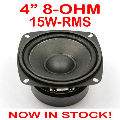 """4"""" 15WRMS PA DJ Speaker Subwoofer Woofer Sub Driver 4 Inch 8 Ohms Quality"""